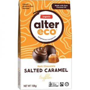 Organic Chocolate - Salted Caramel - ALTER ECO - Salted Caramel Truffles 108g