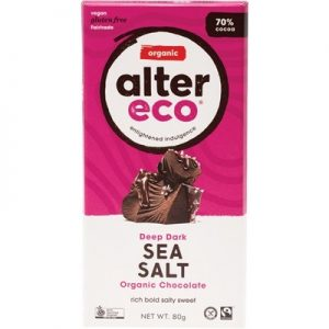 Dark Sea Salt Chocolate - Organic - ALTER ECO - 80g