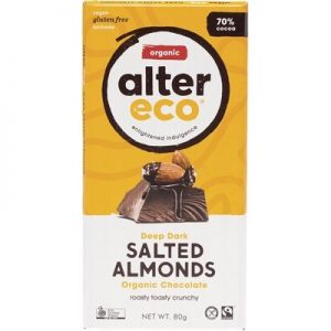 Dark Salted Almond Chocolate - Organic - ALTER ECO - 80g