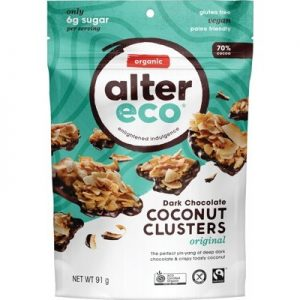 Original Dark Chocolate Coconut Clusters - ALTER ECO - 91g