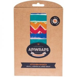 Beeswax Wraps- Kitchen 1 x Small, 1 x Medium & 1 x Large - APIWRAPS