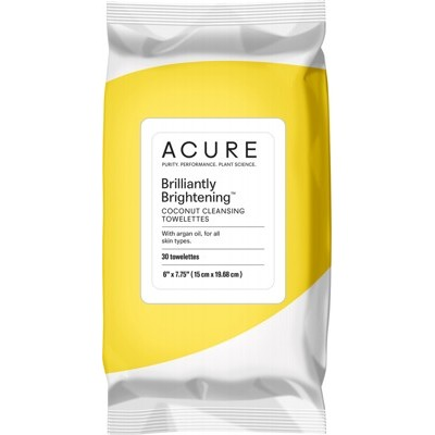 Coconut Cleansing Towelletes - ACURE Brilliantly Brightening - 30