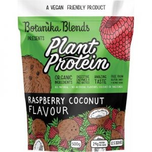 Best Coconut Plant Protein - BOTANIKA BLENDS - Raspberry Coconut 500g