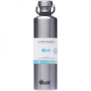 Silver Stainless Steel Bottle - CHEEKI - 1L