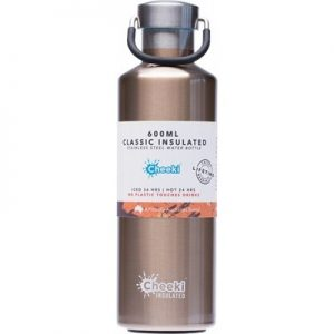 Insulated Champagne Steel Bottle - Stainless Steel - CHEEKI - 600ml