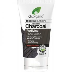 Travel Size Face Wash - Activated Charcoal - DR ORGANIC - 50ml