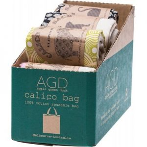 Best Reusable Shopping Bag - Calico - APPLE GREEN DUCK