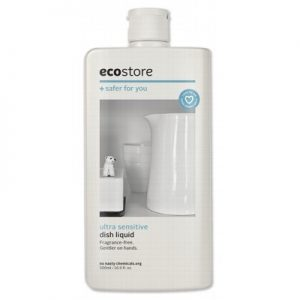 Ultra Sensitive Dish Liquid - Fragrance Free - ECOSTORE - 500ml