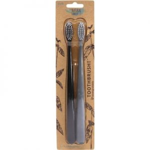 Natural Bio Toothbrush x 2 (Pirate Black & Monsoon Mist) - THE NATURAL FAMILY CO