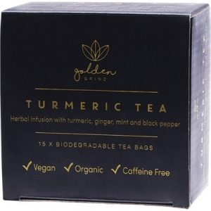 Biodegradable Turmeric Tea Bags - GOLDEN GRIND - 15