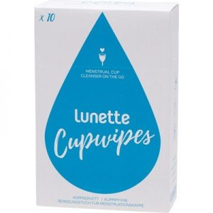 Menstrual Cup Disinfecting Wipes - LUNETTE Disinfecting Wipes x 10