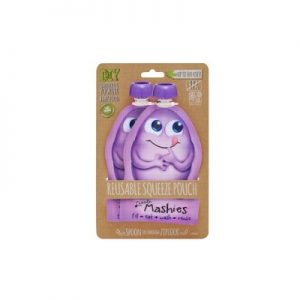 Reusable Squeeze Pouch Purple - LITTLE MASHIES - Pack Of 2 - 130ml