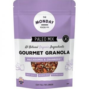 Paleo Granola - Macadamia & Cranberry - THE MONDAY FOOD CO. 300g