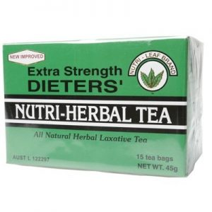 Dieter's Herbal Laxative Tea Bags - Extra Strength - NUTRI-LEAF- 15 bags