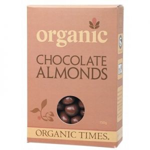 Organic Milk Chocolate Almonds - ORGANIC TIMES - 150g