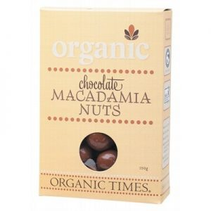 Milk Chocolate Macadamia Nuts - ORGANIC TIMES Chocolate - 150g