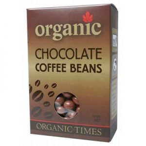 Milk Chocolate Coffee Beans - ORGANIC TIMES Chocolate - 150g