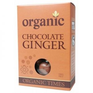 Organic Milk Chocolate Ginger - ORGANIC TIMES - 150g