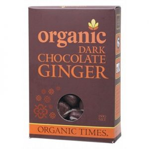 Organic Dark Chocolate Ginger - ORGANIC TIMES - 150g