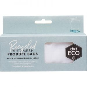 Reusable Fruit & Vegetables Bags 4 Pack + Storage Pouch