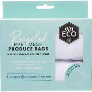 Reusable Fruit & Veg Bags 8 Pack + Storage Pouch - EVER ECO
