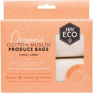 Organic Cotton Muslin Bags - Reusable Produce Bags - EVER ECO