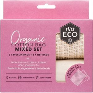 Reusable Produce Bags - Organic Cotton Mixed Bag Set - EVER ECO