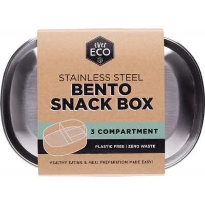 Stainless Steel Snack Box - 3 Compartments - EVER ECO Stainless Steel Bento Box - 3 Compartments - EVER ECO
