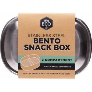 Best stainless Steel Box for Bento Snack - 2 Compartments - EVER ECO