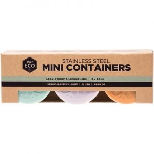 Stainless Steel Mini Containers - Spring Pastels - EVER ECO - Set of 3