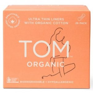 Ultra Thin Panty Liners (Wrapped) For Everyday - TOM ORGANIC - 26