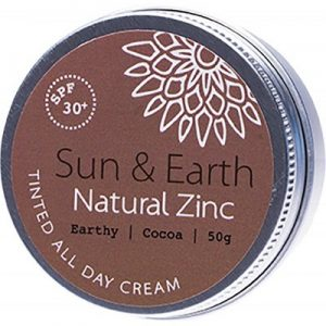 Best All Day Cream - SUN & EARTH Tinted All Day Cream - SPF 30+ Earthy - Dark 50g