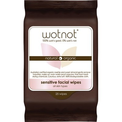 Facial Wipes For Sensitive Skin - WOTNOT Facial Wipes - 25 pack
