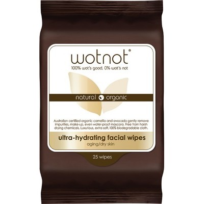 Ultra-hydrating Facial Wipes - WOTNOT Facial Wipes - 25 pack