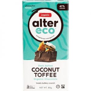 Dark Coconut Toffee Chocolate - Organic - ALTER ECO - 80g