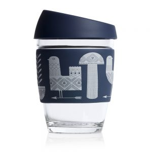JOCO Reusable Glass Cup Artist Series 12oz (354ml)- Adrian Knott