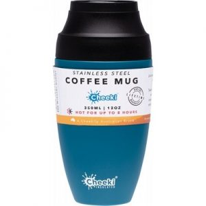 Vacuum Insulated Coffee Mug - CHEEKI Coffee Mug Topaz 350ml