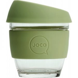 JOCO Reusable Glass Cup Small 8oz (236ml)- Army