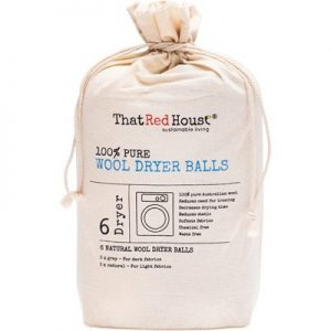 THAT RED HOUSE 100% Pure Wool Dryer Balls x 6