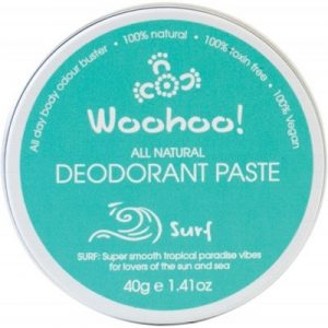 WOOHOO BODY Travel Deodorant Paste (Tin) - Surf 40g