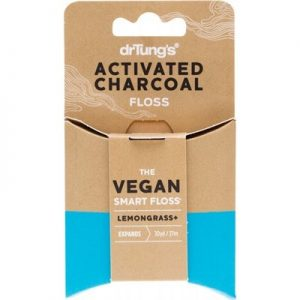 DR TUNG'S Vegan Dental Floss - Activated Charcoal & Lemongrass 27m