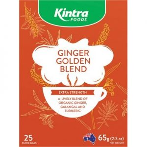 KINTRA FOODS Herbal Tea Bags - Ginger Golden Blend x 25