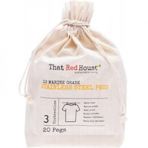Waste Free THAT RED HOUSE Stainless Steel Pegs - 316 Marine Grade x 20