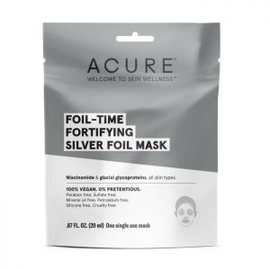 best Silver Foil Mask -ACURE Foil-Time - Fortifying Silver Foil Mask 20ml