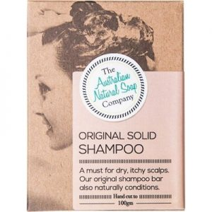 Natural Solid Shampoo Bar - Original - THE AUST. NATURAL SOAP CO - 100g