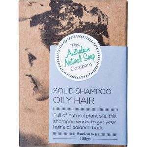 THE AUST. NATURAL SOAP CO - Solid Shampoo Bar - Oily Hair 100g