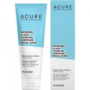 Best Charcoal Facial Scrub - ACURE Incredibly Clear - 118ml