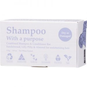 SHAMPOO WITH A PURPOSE - Shampoo & Conditioner Bar - Dry Or Damaged Hair 135g